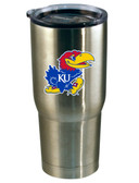 Kansas Jayhawks 22oz Decal Stainless Steel Tumbler