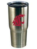 Washington State Cougars 22oz Decal Stainless Steel Tumbler