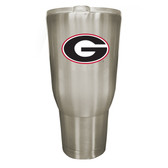 Georgia Bulldogs 32oz Stainless Steel Decal Tumbler
