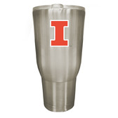 Illinois Fighting Illini 32oz Stainless Steel Decal Tumbler