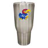 Kansas Jayhawks 32oz Stainless Steel Decal Tumbler