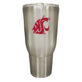 Washington State Cougars 32oz Stainless Steel Decal Tumbler