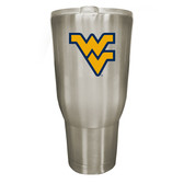 West Virginia Mountaineers 32oz Stainless Steel Decal Tumbler