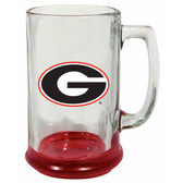 Georgia Bulldogs 15 oz Highlight Decal Glass Stein