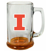 Illinois Fighting Illini 15 oz Highlight Decal Glass Stein