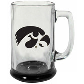 Iowa Hawkeyes 15 oz Highlight Decal Glass Stein