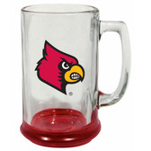 Louisville Cardinals 15 oz Highlight Decal Glass Stein