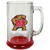 Maryland Terrapins 15 oz Highlight Decal Glass Stein
