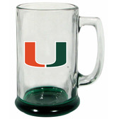 Miami Hurricanes 15 oz Highlight Decal Glass Stein