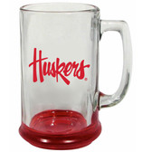 Nebraska Cornhuskers 15 oz Highlight Decal Glass Stein