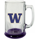 Washington Huskies 15 oz Highlight Decal Glass Stein