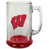 Wisconsin Badgers 15 oz Highlight Decal Glass Stein