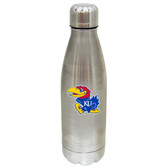 Kansas Jayhawks 17 oz Stainless Steel Water Bottle