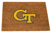 Georgia Tech Yellow Jackets Colored Logo Door Mat