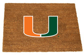 Miami Hurricanes Colored Logo Door Mat
