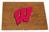 Wisconsin Badgers Colored Logo Door Mat