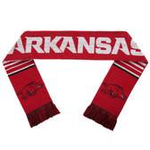 Arkansas Razorbacks Scarf - Reversible Stripe