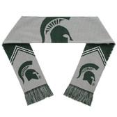 Michigan State Spartans Scarf - Reversible Stripe
