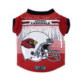 Arizona Cardinals Pet Performance Tee Shirt Size S