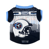 Tennessee Titans Pet Performance Tee Shirt Size L