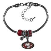 San Francisco 49ers Bracelet - Euro Bead