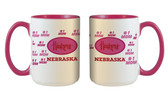 Nebraska Cornhuskers 15oz Mom Mug
