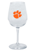 Clemson Tigers 12.75oz Decal Wine Glass