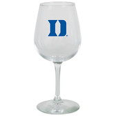 Duke Blue Devils 12.75oz Decal Wine Glass