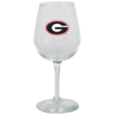 Georgia Bulldogs 12.75oz Decal Wine Glass