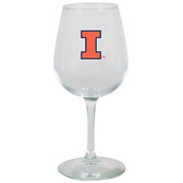 Illinois Fighting Illini 12.75oz Decal Wine Glass