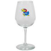Kansas Jayhawks 12.75oz Decal Wine Glass