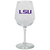 LSU Tigers 12.75oz Decal Wine Glass