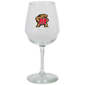 Maryland Terrapins 12.75oz Decal Wine Glass