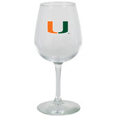 Miami Hurricanes 12.75oz Decal Wine Glass