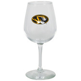 Missouri Tigers 12.75oz Decal Wine Glass