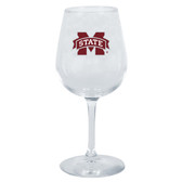 Mississippi State Bulldogs 12.75oz Decal Wine Glass