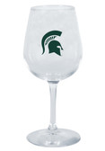 Michigan State Spartans 12.75oz Decal Wine Glass