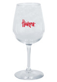 Nebraska Cornhuskers 12.75oz Decal Wine Glass