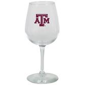 Texas A&M Aggies 12.75oz Decal Wine Glass
