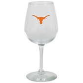 Texas Longhorns 12.75oz Decal Wine Glass
