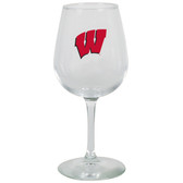 Wisconsin Badgers 12.75oz Decal Wine Glass