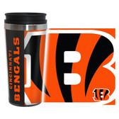 Cincinnati Bengals Travel Mug 14oz Full Wrap Style Hype Design