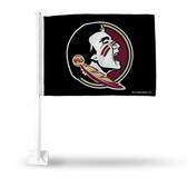 Florida State Seminoles Logo Car Flag - Black