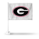 Georgia Bulldogs 'G' on White Car Flag