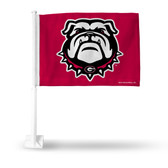 Georgia Bulldogs Red Flag with Bulldogs Logo Car Flag