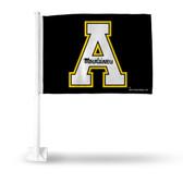 Appalachian State Mountaineers  Black Car Flag - PRIMARY LOGO