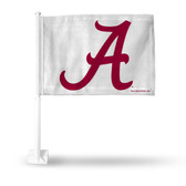 Alabama Crimson Tide - A Logo - White Car Flag