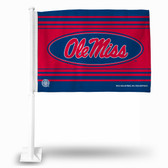 Ole Miss Rebels Navy Car Flag