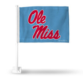 Ole Miss Rebels Script Car Flag