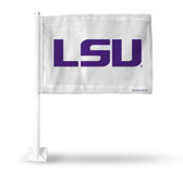 LSU Tigers PRIMARY LOGO WHITE BACKGROUND Car Flag